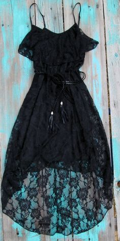Black lace country chic dress. 30 dollars. This site has lots of cute and affordable clothes