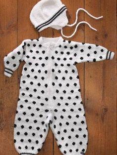 Vauvan haalari ja myssy Knitted Baby Clothes, Baby Knitting, Rompers, Dresses, Fashion, Vestidos, Moda, La Mode, Romper