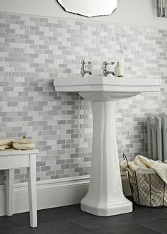 Chic Grey Shades Brick Mosaic Tile