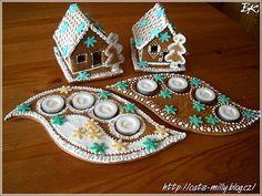 Adventní svícen, perníková dekorace - chaloupka | Kreativní Milly