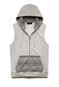 Sleeveless hoodies... You can make one by cutting the sleeves off of a older tight hoodie