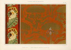 M P Verneuil L'Animal dans la Decoration Grasset 1897 Art Nouveau Pattern, Art Nouveau Design, Eugene Grasset, Ornament Drawing, Dora, Canvas Art, Canvas Prints, Maurice, Animal Decor