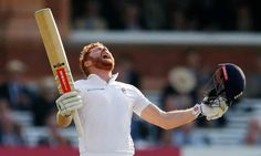 June 10 2016 - Johnny Bairstow celebrates scoring a century for England v Sri Lanka at Lord's