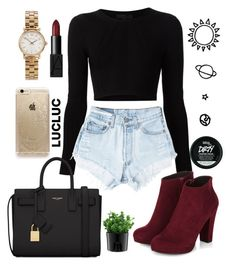 """"""""""" by valentinadelaserna ❤ liked on Polyvore featuring Cushnie Et Ochs, Marc by Marc Jacobs, Levi's, Yves Saint Laurent, NARS Cosmetics, Rifle Paper Co, Bodum, women's clothing, women and female"""