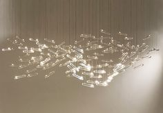 Flylight a chandelier by Drift Crystal Pendant, Pendant Lamp, Pendant Lighting, Chandelier, L And Light, Light Art, Modern Lighting, Lighting Design, Ceiling Lamp