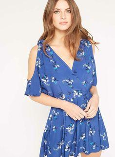 9f8f1d37246 Miss Selfridge Navy Floral Playsuit Blue Size UK 10 rrp 35 DH086 JJ 18   fashion
