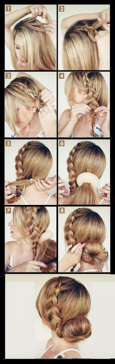 The big braided bun hairstyle for homecoming