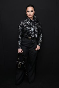 Demi Lovato backstage at the Marc Jacobs Spring 2017 fashion show during New…