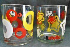 Collectible glass, from the famous brand Nutella / Collector verre à Nutella. de la boutique Vintagemandalitashop sur Etsy