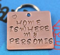 Custom Hand Stamped Pet Tag - Copper Dog Tag - Personalized Metal Dog ID Tag. $10.00, via Etsy.