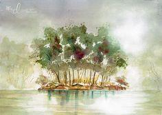 Botanical Garden Watercolour