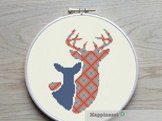 modern cross stitch pattern deer and fawn PDF   door Happinesst