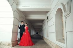 Red gown with formal suites!