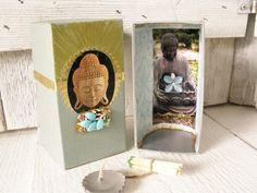 Small prayer box Buddhist shrine meditation by AVelvetLeaf on Etsy