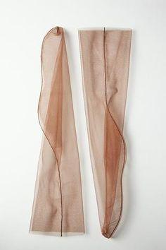 Cognac - back seam tulle sock