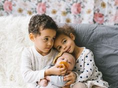 Sweet, floral, and love filled studio session with a mama and her three little children by Seattle photographer Chelsea Macor Photography