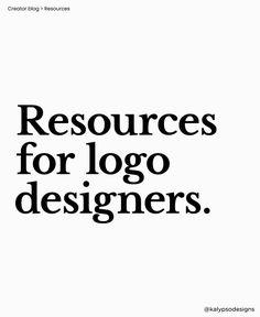 55 Valuable Resources For Logo Designers Logo Design Tips, Graphic Design Tips, Ui Ux Design, Tool Design, Design Projects, Font Sites, Designer Friends, Affinity Designer, Business Design