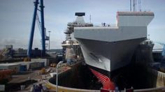 On board Royal Navy's new aircraft carrier - BBC News