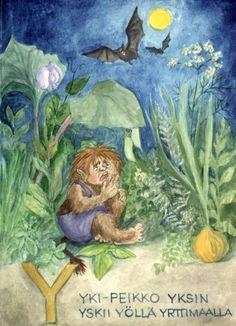 Arin aakkoset Troll, Teaching, School Stuff, Painting, Art, Art Background, Painting Art, Kunst, Paintings
