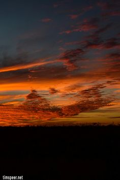 beautiful sunset over west texas