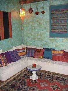 Image result for moroccan bedroom blue