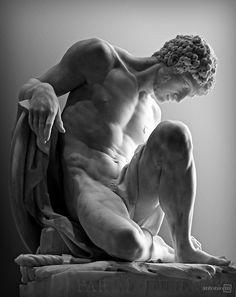 Pierre Julien (1731 - 1804) Dying Gladiator Marble