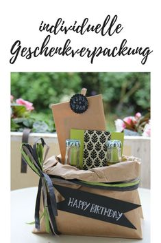 Tinker creative gift packaging – a birthday suitcase goes on a journey - Birthday Presents Creative Gift Packaging, Creative Gift Wrapping, Creative Gifts, Wrapping Gifts, Birthday Gift Baskets, Birthday Presents, Diy Gifts Videos, Pin On, Father's Day Diy