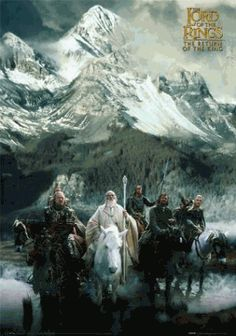 Return of the King Mountain Poster   Lord of the Rings Return of the King Posters Shop