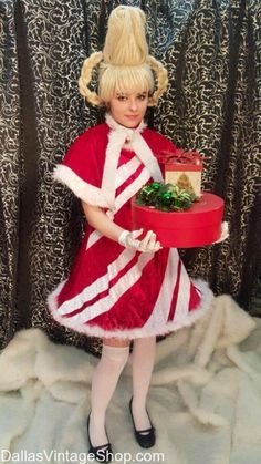Cindy Lou Who Costume How the Grinch Stole Christmas Costumes Whoville Characters Costumes Dr. Christmas Character Costumes, Christmas Characters, Christmas Costumes, Halloween Costumes For Kids, Halloween 2018, Halloween Stuff, Grinch Party, Grinch Christmas Party, Christmas Parties