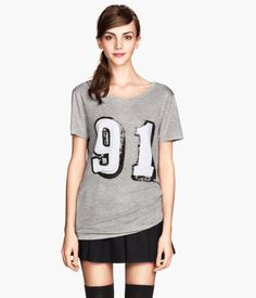 H&M T-shirt with Printed Design $12.95