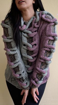 Design & Hand Knitted by Pearl Knitter.