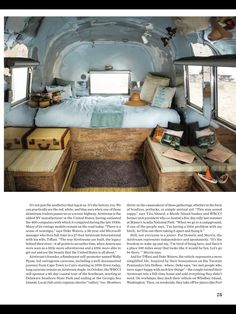 Airstream Interior Design | Betty Jane, my Airstream Bambi II's interior. She already has a new ...