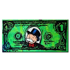 Alec-Monopoly-Dollar-Hand-Painted-Canvas-Oil-Painting-Abstract-Wall-Art-24x48in