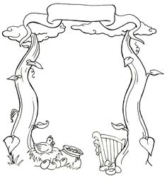 Image result for jack and the beanstalk colouring sheet