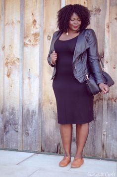 My Curves & Curls | A Canadian Plus Size Fashion blog: Styling a basic LBD