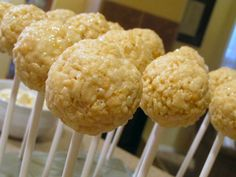 Cake pops....rice krispy pops