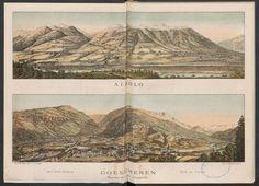 Der Gotthard: Bahn, Strasse und Tunnel. Rar_4615 Vintage World Maps, Literature