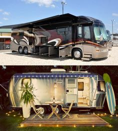 If you had the cash, would you go for a modern luxury RV or a cool vintage motorhome, tricky huh? What would you buy?  Click & tell us... :)
