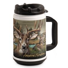 American Expedition TM24-302 Thermal Mug, Whitetail Deer Collage, 24 oz., Multi-Color >>> Click image for more details.