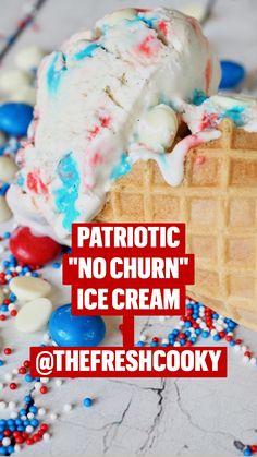 Ice Cream Treats, Ice Cream Desserts, Frozen Desserts, Summer Desserts, Frozen Treats, No Bake Desserts, Summer Recipes, Delicious Desserts, Easy Ice Cream Recipe