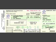 Oceanic flight boarding pass invitation, site has everything for a LOST party