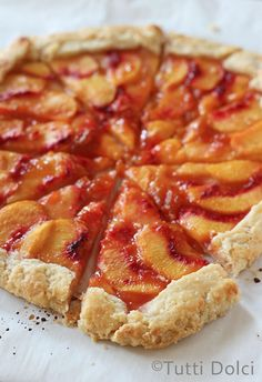 Peach Crostata - a flaky, buttery free-form pie topped with sweet summer peaches!