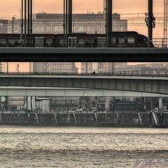 Cologne / Köln City of bridges across the Rhine