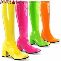 GOGO-300UV, High Platform3 inch block heel UV gogo boots</p> * Made by PLEASER Shoes
