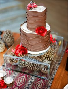 Chocolate wedding cake. Sweet Gems Cakes.