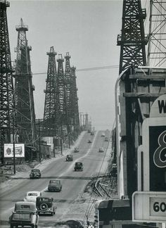 Andreas Feininger was born in Paris, France, to an American family of German origin. His father, painter Lyonel Feininger, was born in Ne. Black White Photos, Black And White Photography, Bauhaus, Oil Rig Jobs, Oilfield Life, Time Photography, Los Angeles Area, Great Photographers, History Photos