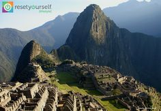 Sacred, spiritual and life-changing are the main reasons why Machu Picchu is a #ResetApproved destination. What's on your bucket list?  #ResetLifestyle