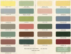 1950s paint colors for kitchens and bathroom. Sherwin Williams