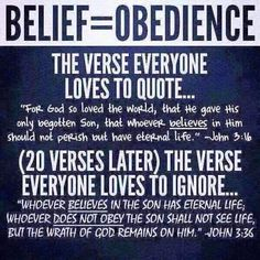 Belief must lead you to obedience! Bible Verses Quotes, Bible Scriptures, Faith Quotes, Gospel Bible, Faith Bible, Bible Teachings, Advice Quotes, Prayer Quotes, Bible Truth