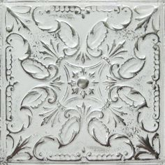 tin ceiling tile, can be used as backsplashes - many different patterns & colors